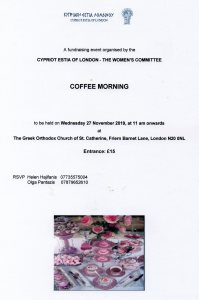 coffee morning 27th November 2019